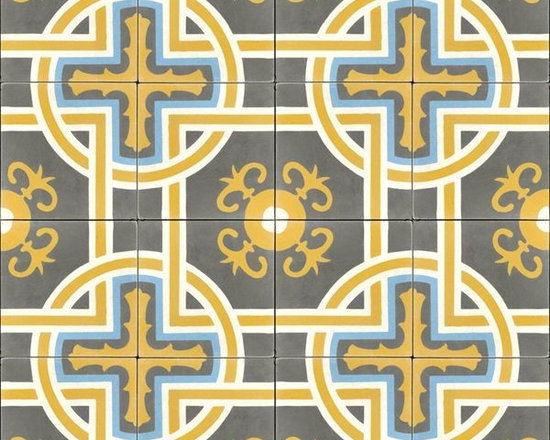 In Stock Cement Tile - Sevilla Gold cement tile from Cement Tile Shop