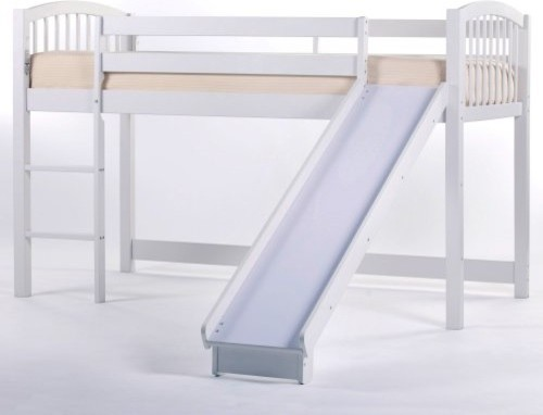 Schoolhouse Junior Loft with Slide - White - traditional - kids ...