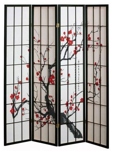 Cherry Blossom Screen asian screens and wall dividers