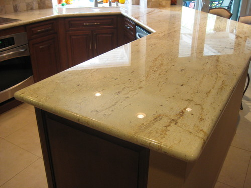 Cream kitchen cabinets granite - Love The Neutral Countertop Is It Granite And What Is The