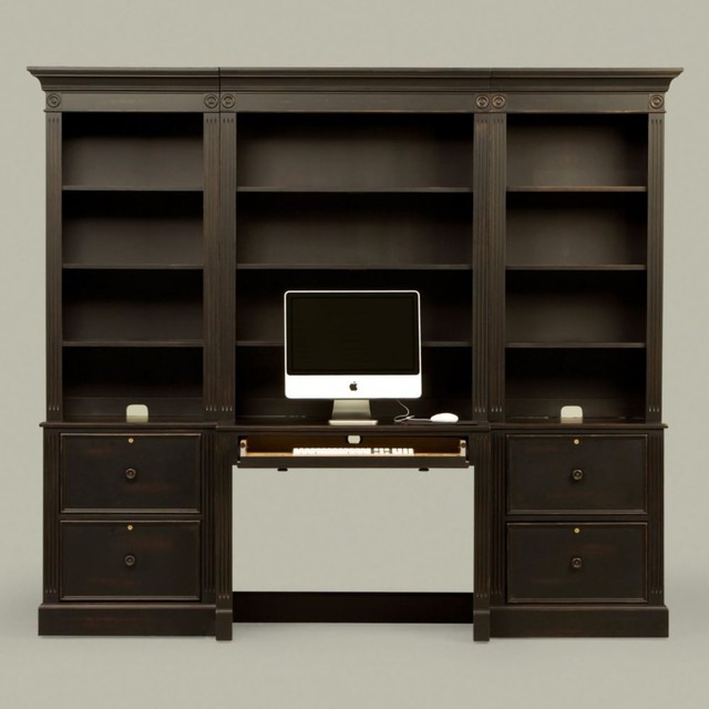 new country by ethan allen modular work unit traditional-storage-cabinets
