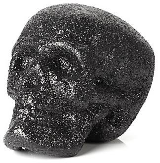 Glitter Skull - Black modern holiday decorations