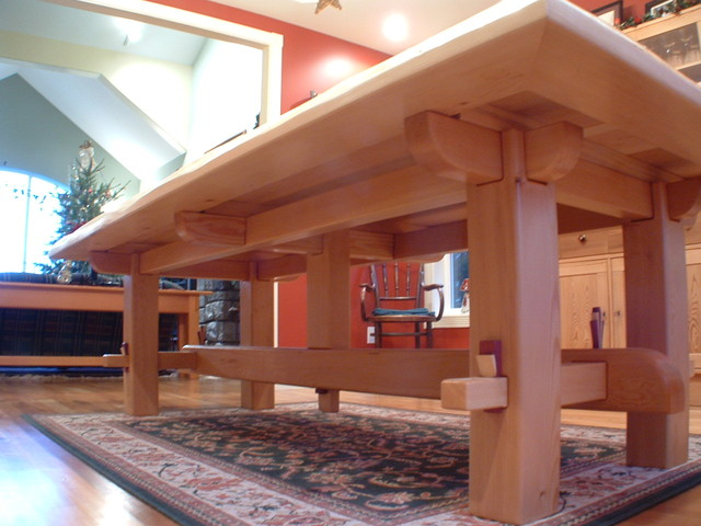 Craftsman Timber Frame Furniture Asian Dining Tables Vancouver By