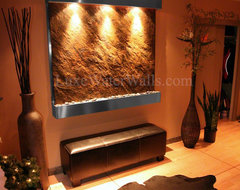 """54"""" Wide Fountain in Various Homes craftsman-indoor-fountains"""