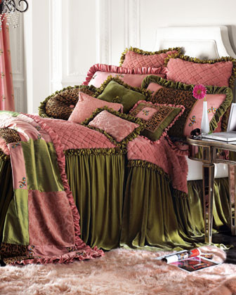 Velvet Couture Strawberry Mousse Bed Linens King Dust Skirt traditional-bedskirts