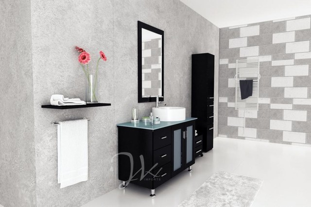 39 Lune Vanity With Green Glass Top modern bathroom vanities and sink consoles