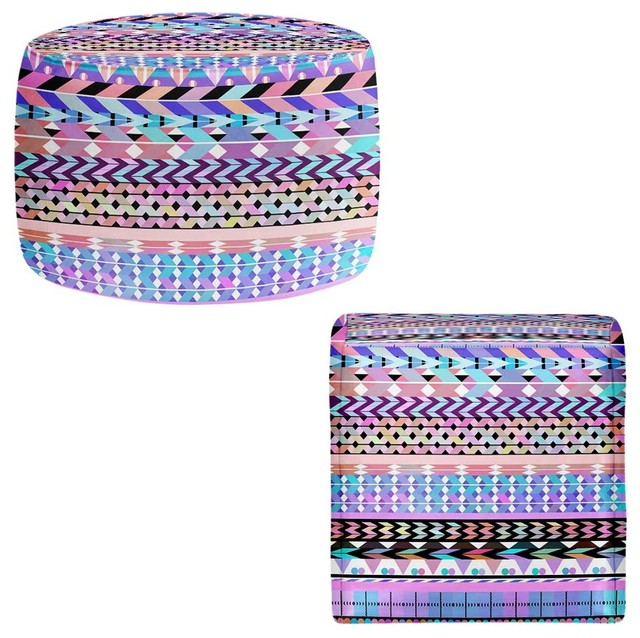 Ottoman Foot Stool by Organic Saturation Girly Colorful  : contemporary footstools and ottomans from houzz.com size 640 x 638 jpeg 114kB