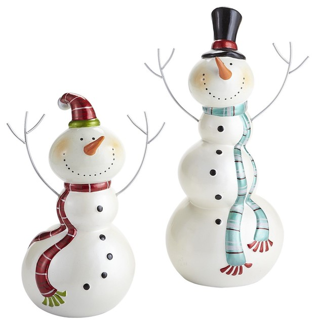 Joyful snowmen contemporary holiday decorations by for Christmas snowman decorations