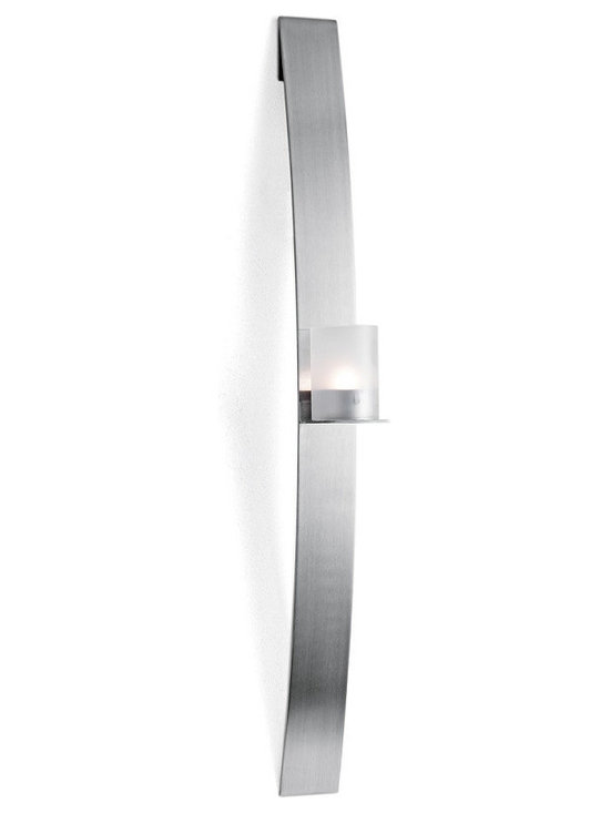 Blomus - Lado Wall Mounted Tealight Holder - Matte, Large - Stainless steel. Two sizes available.