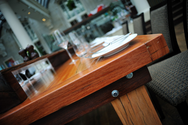 Railway Sleeper Table contemporary-dining-tables