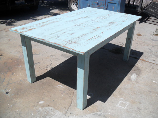 Reclaimed wood table farmhouse dining tables los for Where to buy reclaimed wood los angeles