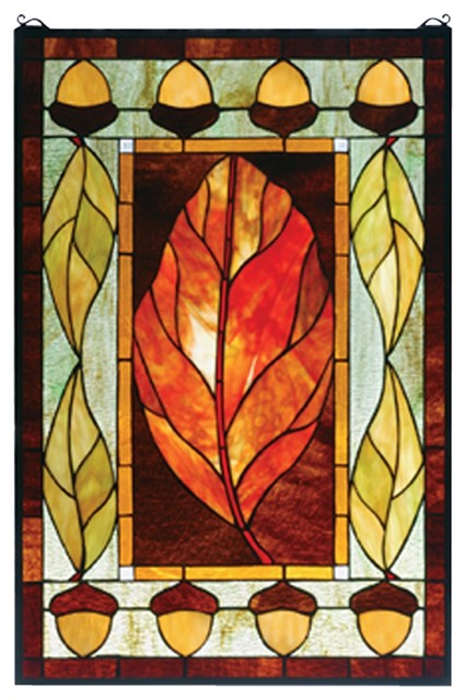 Meyda Tiffany Harvest Festival Window X-70237 contemporary-stained-glass-panels