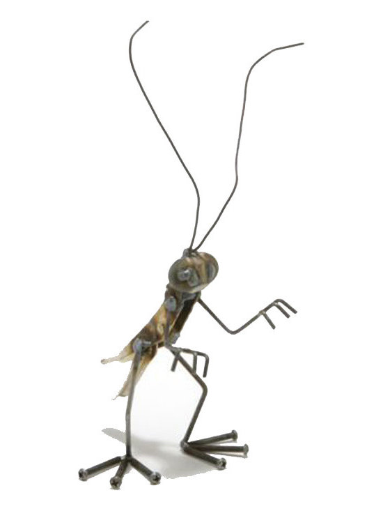 Ellis the Grasshopper - Fun, funky, and always very unique, Fred Conlon's award-winning metal art has appeared in art festivals across the nation. Handmade mostly from recycled material, factory seconds and stuff found in the scrap yard, each piece is unique and one of a kind.