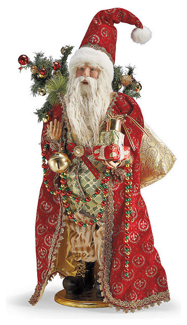 Tabletop Father Christmas Figure - Frontgate - Christmas ...