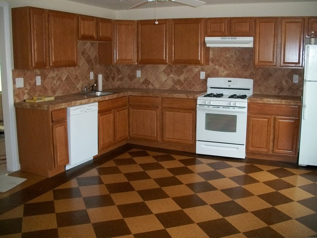Cork Checker Board Kitchen