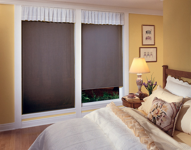 Signature blackout roller shades traditional for Shades for bedroom windows