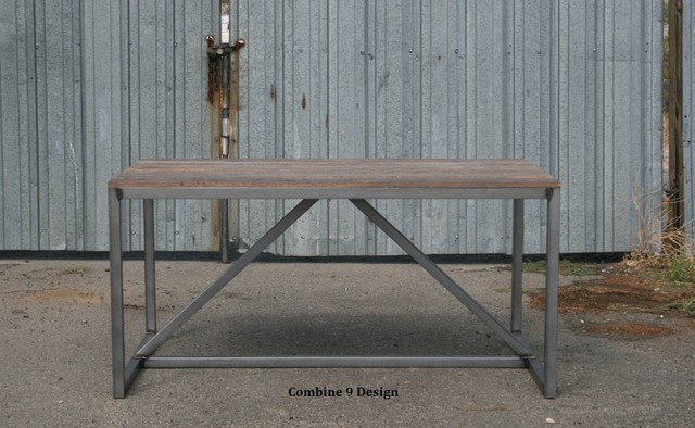 Modern Dining Table/Desk made of Reclaimed Wood and Steel. Mid Century. midcentury-dining-tables