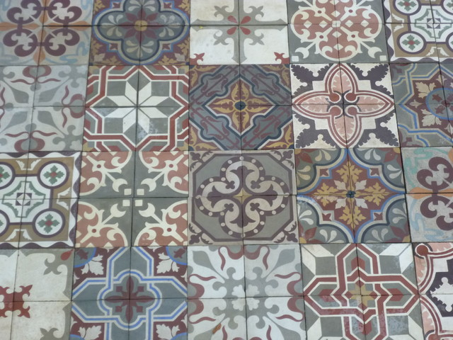 PATCHWORK FLOOR TILES Eclectic Tile Other Metro By