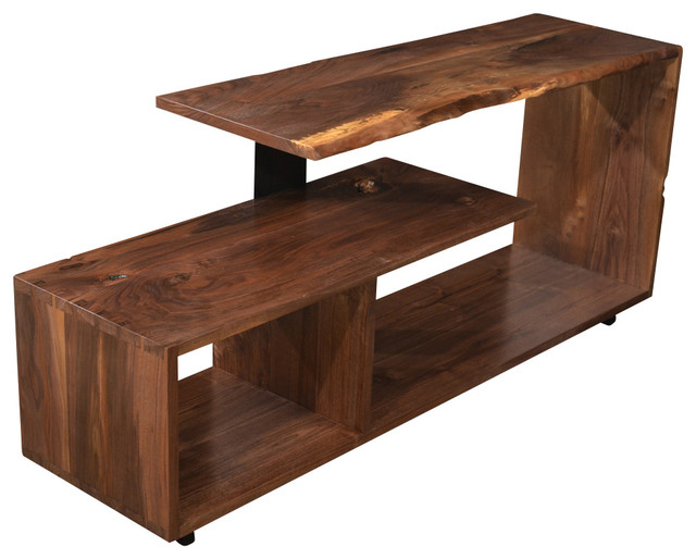 Black Walnut Entertainment Center Rustic Entertainment