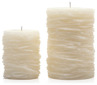 Twig Candles - Ivory modern candles and candle holders