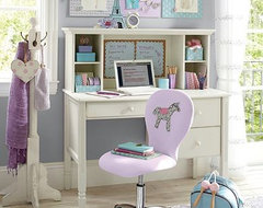 Madeline Storage Desk & Hutch contemporary desks