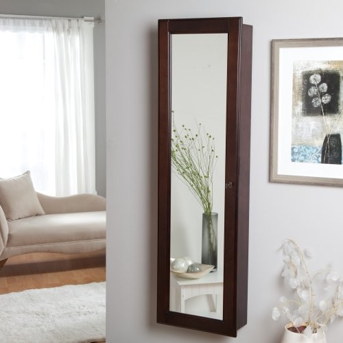 Finley Home Wall-Mounted Wooden Jewelry Armoire contemporary-dressers