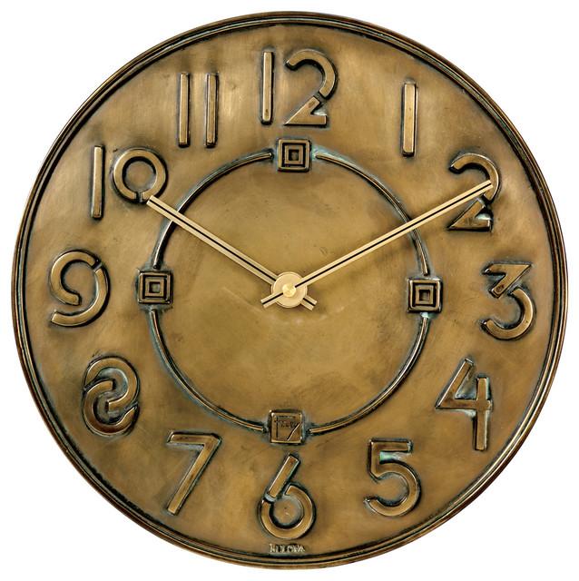 Frank Lloyd Wright Exhibition Typeface Wall Clock industrial-clocks