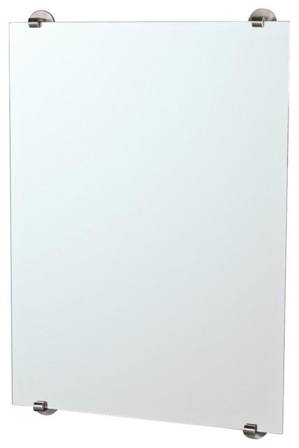 "Contemporary Gatco Zone Minimalist Satin Nickel 32"" High Wall Mirror contemporary-mirrors"