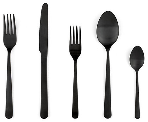 Almoco Flatware, Black modern flatware
