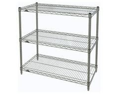 Metro Shelving Unit - 48x18x33 Chrome industrial-garage-and-tool-storage
