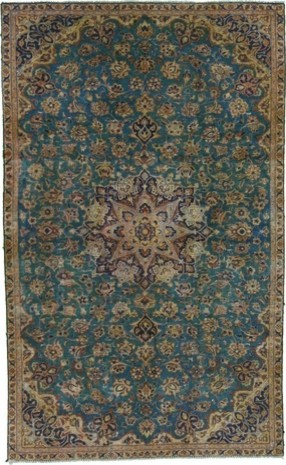 Blue Tabriz Rug traditional rugs