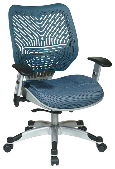 Space Seating 86 REVV Series Unique Self Adjusting Blue Mist Managers Chair traditional-office-chairs