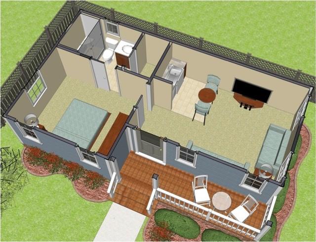 Home Care Suite eclectic-floor-plan