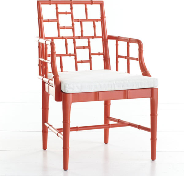 Chinese Chippendale Chair Poppy Red Asian Armchairs