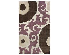 Handmade Alexa Pino Suzani Rug contemporary-rugs
