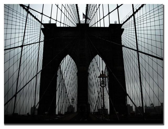 Brooklyn Bridge Canvas Art by Tammy Davison Multicolor - TD012-C1419GG contemporary-artwork