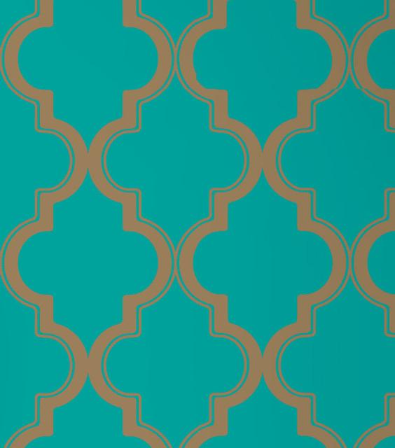 Marrakesh Self Adhesive Removable Wallpaper Honey Jade