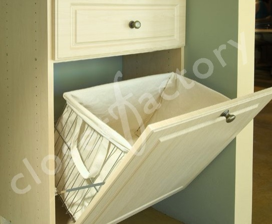 Tip out laundry basket with canvas liner eclectic-closet