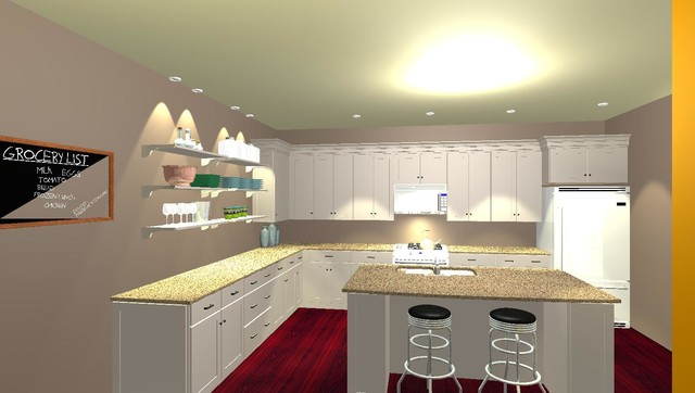 From 2D Blueprint to 3D Visual - Traditional - Rendering - charleston - by Kitchen Design at ...