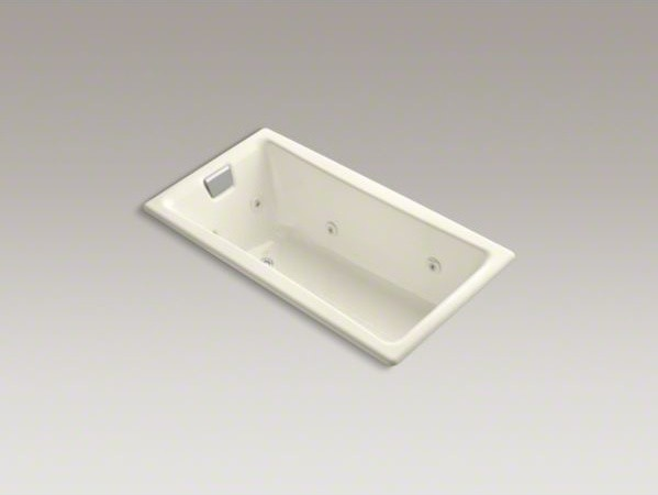 """KOHLER Tea-for-Two(R) 60"""" x 32"""" drop-in whirlpool bath with reversible drain and contemporary-fire-pits"""