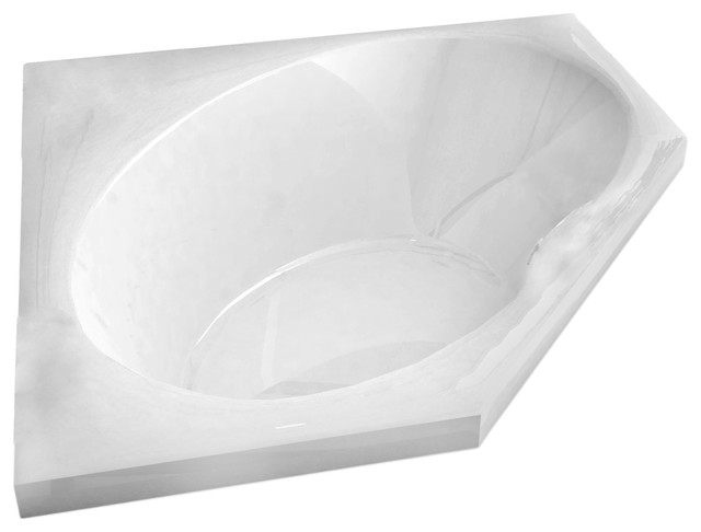 Pagani 60 x 60 corner soaking drop in bathtub soaker tub for Drop in soaker bathtubs