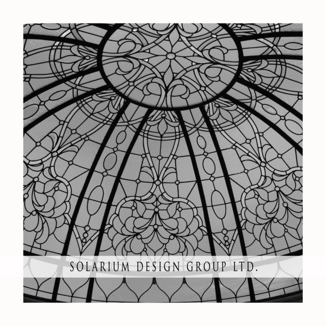 Leaded Glass Domes traditional-skylights