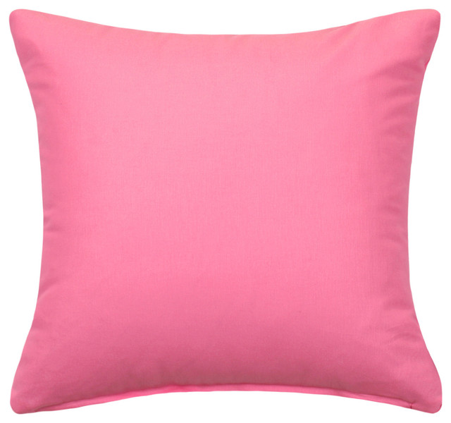 Traditional Throw Pillows : Solid Pink Accent / Throw Pillow Cover, 16