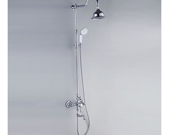 Shower Faucets - Contemporary Style Shower Faucets with Diameter 16cm Shower Head & Hand Shower--FaucetSuperDeal.com