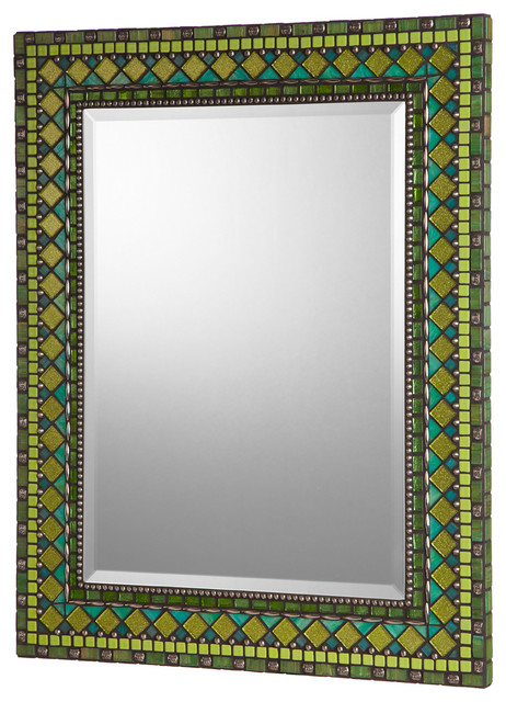 Creative Blue Mosaic Mirror From Green Street Mosaics Custom Made In The