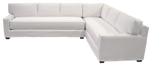White Slipcovered Sectional - Contemporary - Sectional ...