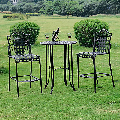 Metal Bistro Set Contemporary Patio Furniture And Outdoor Furniture