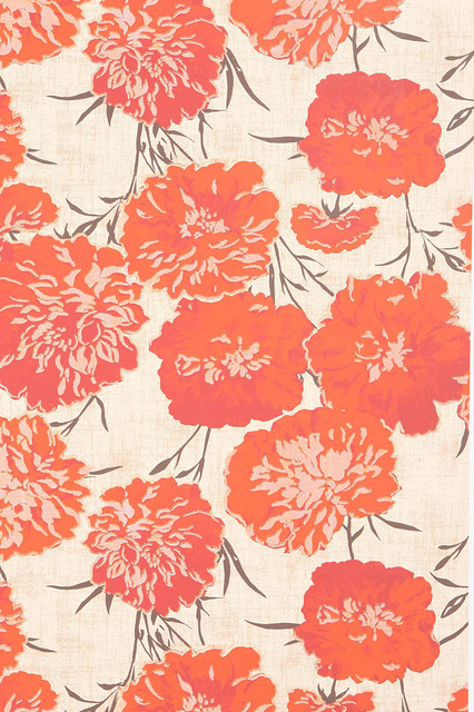 Peony Wallpaper eclectic-wallpaper