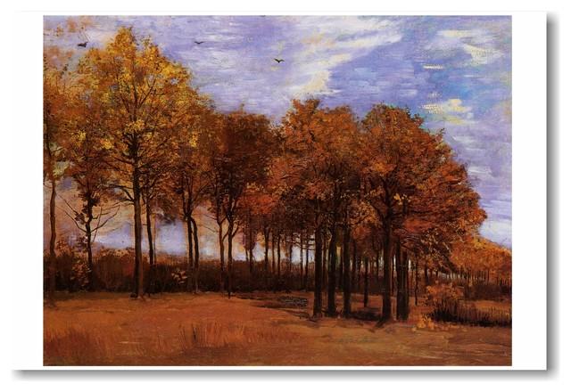 Autumn Landscape 1885 Vincent Van Gogh Art Print