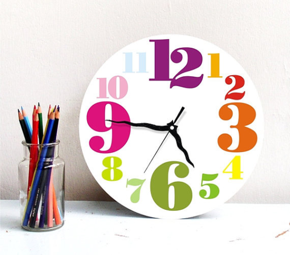 Rainbow Large Round Wall Clock By Art Is Everything